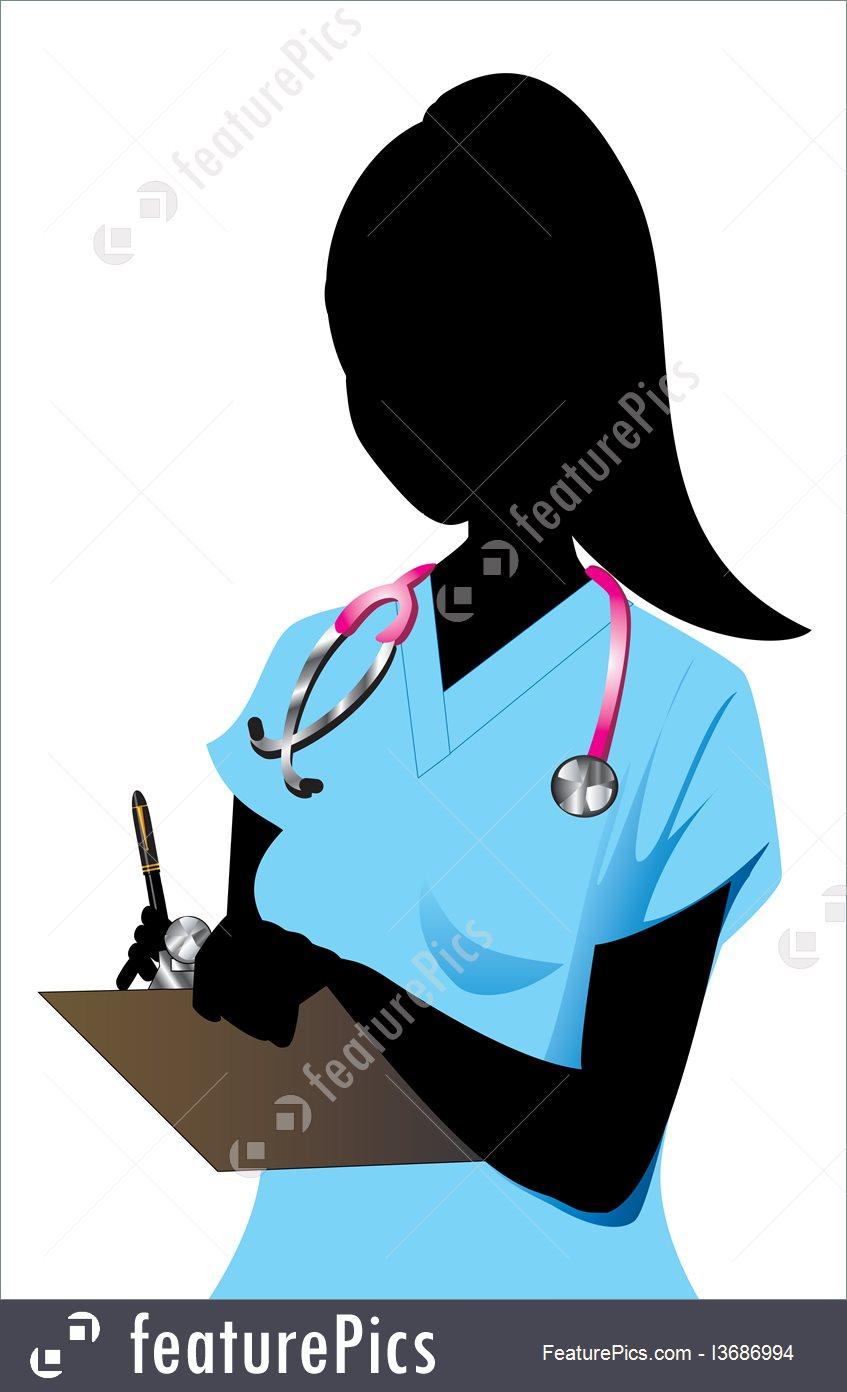 847x1392 Nurse Silhouette Illustration