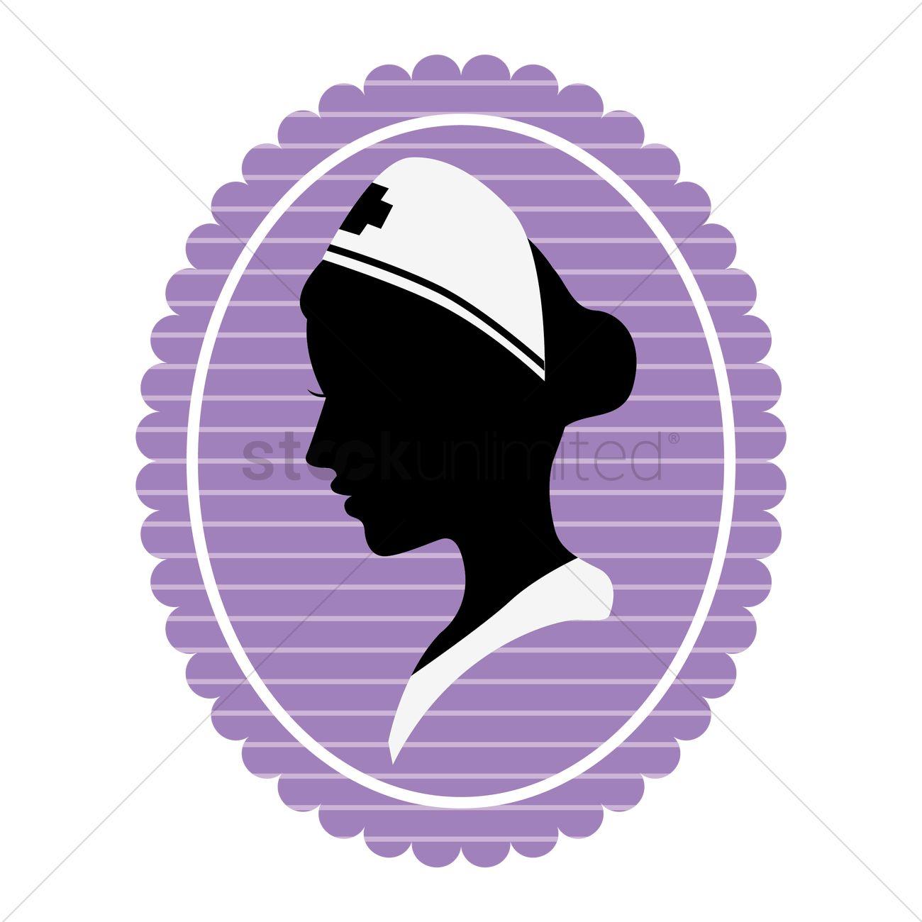 1300x1300 Silhouette Of Nurse Vector Image
