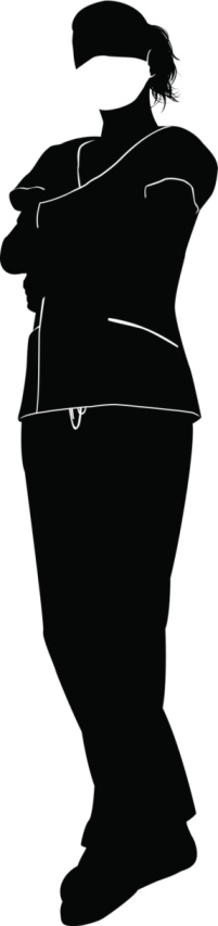 201x853 Female Doctor Surgeon Silhouette Vector Id510534423