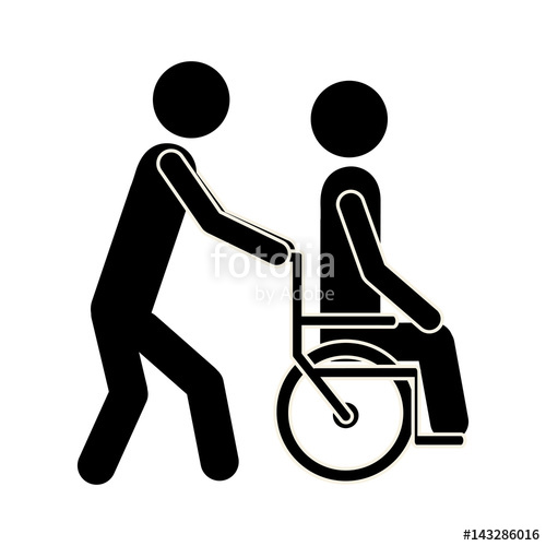 500x500 Nurse Bring The Patient In Wheelchair, Vector Illustration Design