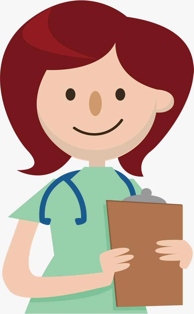 650x1051 Head Nurse In Patrol Ward, Vector Png, Nurse, Head Nurse Png