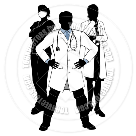460x460 Medical Team Doctors And Nurses Group Silhouettes By Geoimages