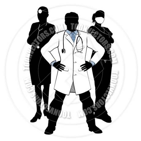 460x460 Doctors And Nurses Medical Team Silhouettes By Geoimages Toon