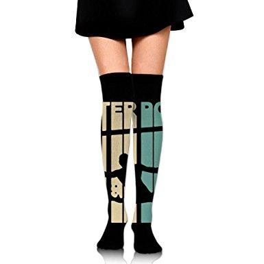 385x385 Vintage Style Water Polo Silhouette Luxury Women's Long Socks Long