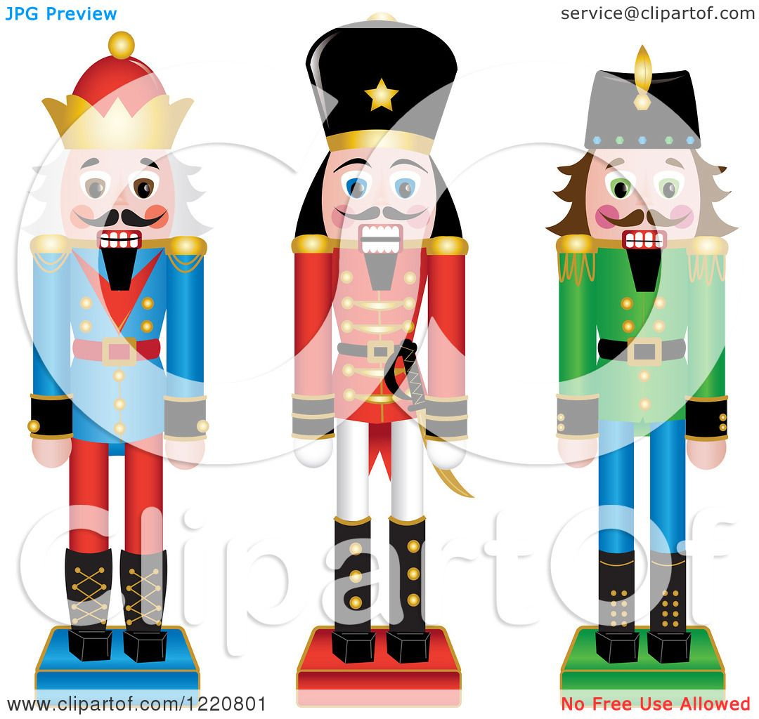 1080x1024 Clipart Of Three Wooden Christmas Nutcrackers