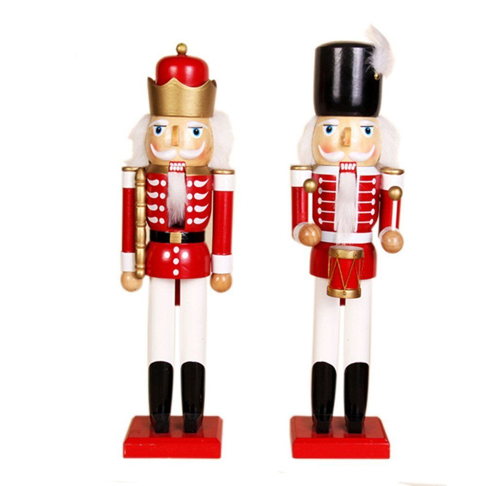 1000x1000 Selene Trumpet Drum Christmas Nutcracker Soldiers Wooden Walnut