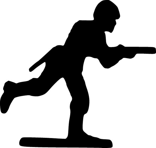 640x611 Silhouette, Cartoon, Toy, Gun, Running, Run, Soldier Clipart