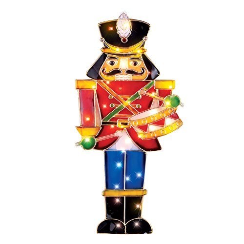 500x500 Lighted Nutcracker Soldier Christmas Decoration