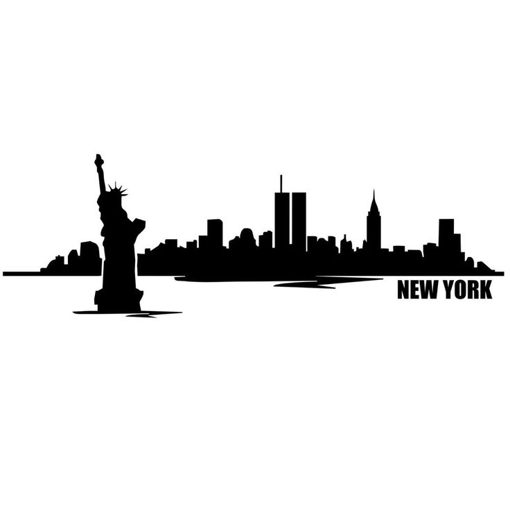 Ny City Skyline Silhouette