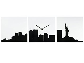 355x266 Karlsson Mdf Ny Skyline Wall Clock Amazon.co.uk Kitchen Amp Home