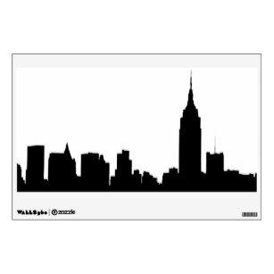 307x307 Manhattan Skyline Wall Decals Amp Wall Stickers Zazzle