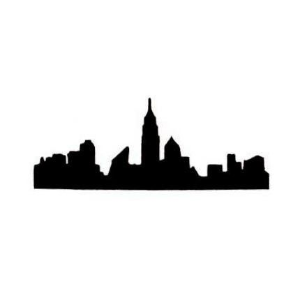 430x430 New York City Skyline Silhouette Unmounted Rubber Stamp, Nyc No.15