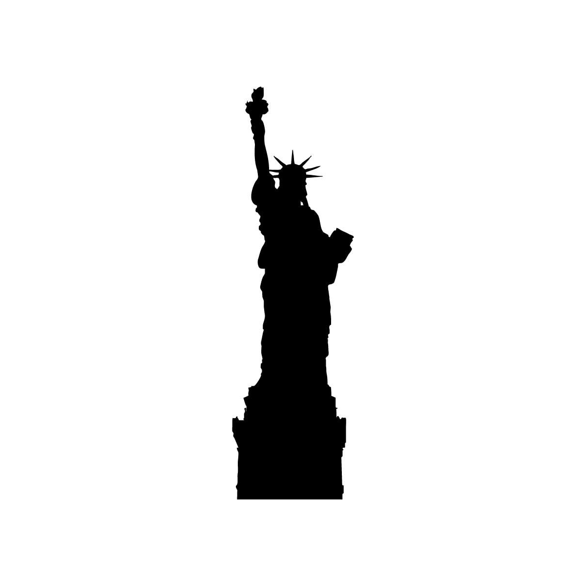 1200x1200 Statue Of Liberty Clipart Silhouette