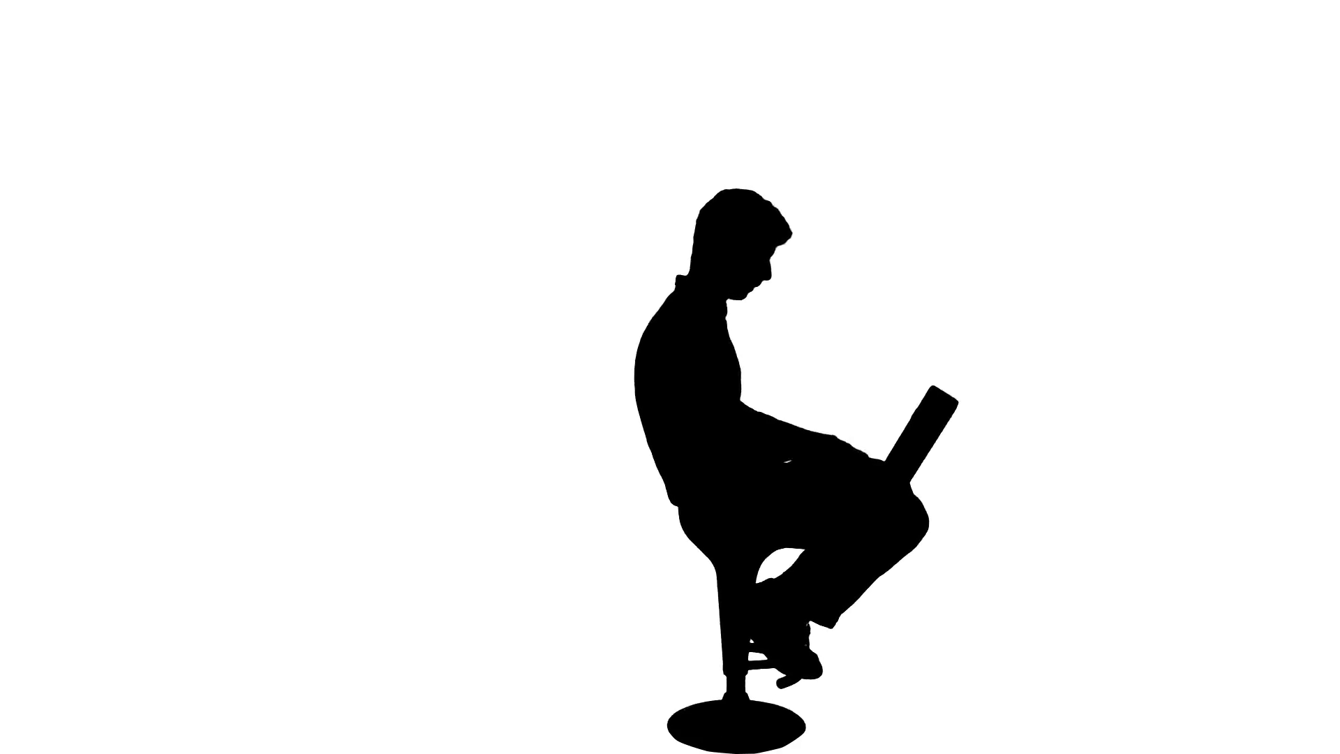 1920x1080 Working Laptop Business Man Silhouette