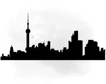 340x270 City Skyline New York Svg Clipart International City Digital