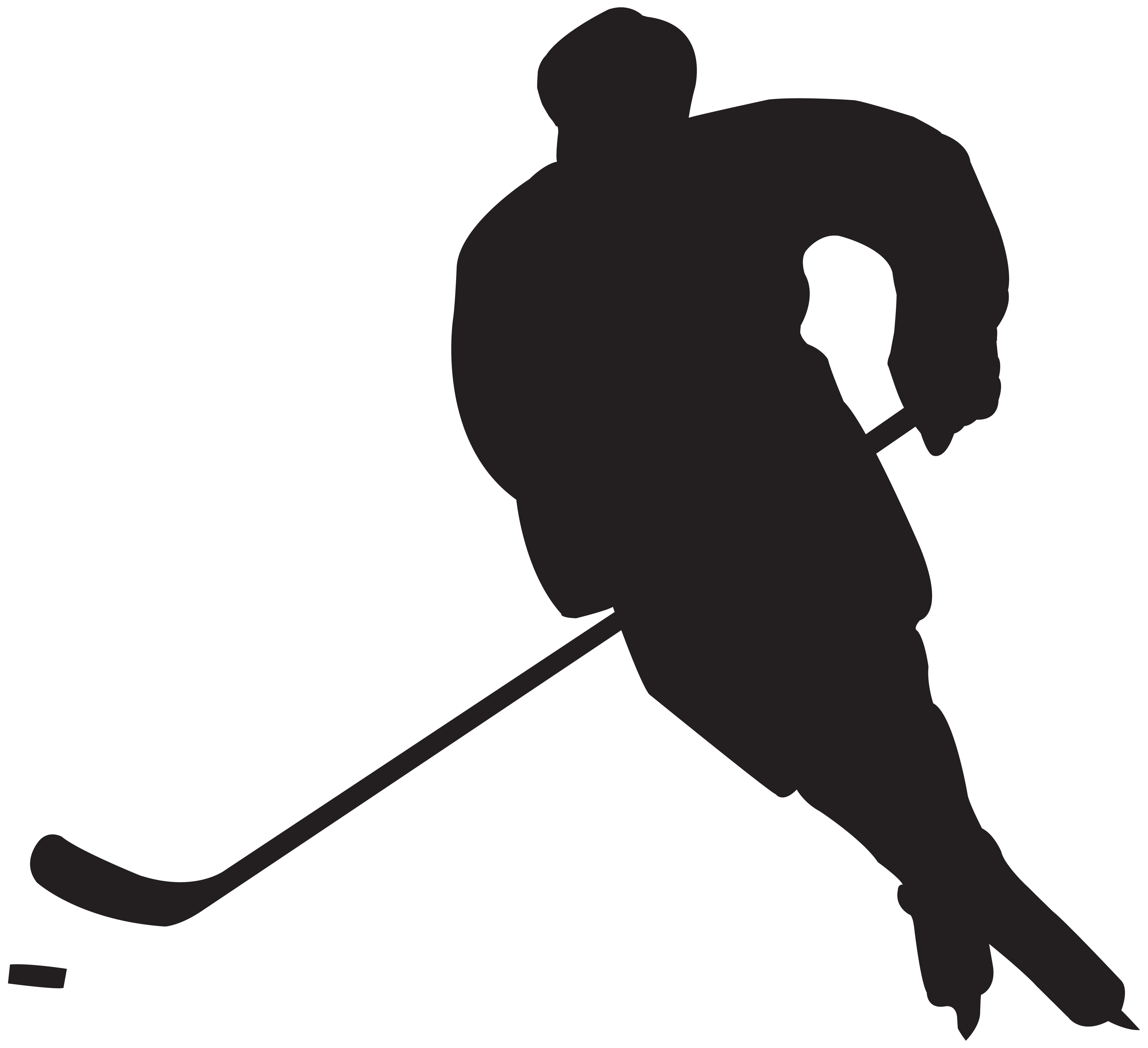 8000x7307 Hockey Silhouette Clipart