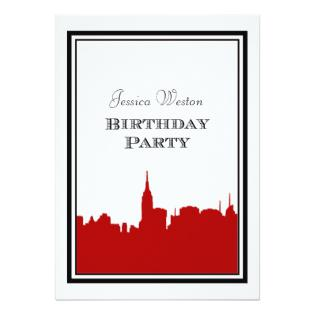 315x315 New York City Themed Sweet Sixteen Birthday Party Invitations