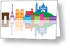 226x170 Paris City Skyline Silhouette Color Illustration Photograph By Jit Lim