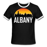 190x190 Sunset Skyline Silhouette Of Albany Ny By Awesome Shirts Spreadshirt