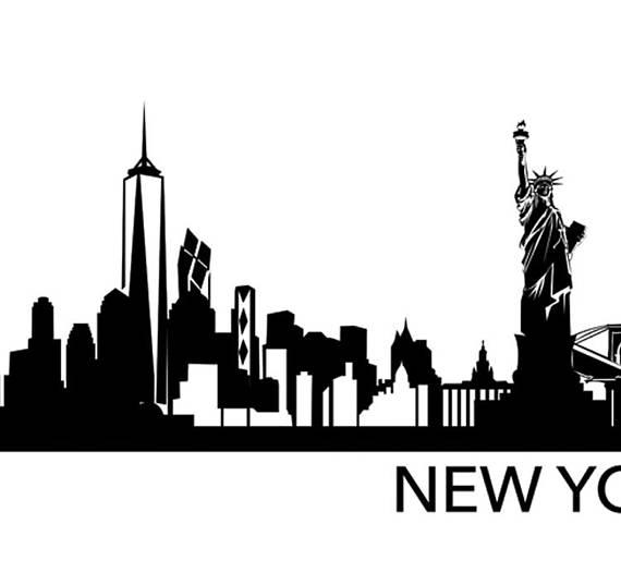 570x526 New York City Skyline Print Nyc Skyline Nyc Silhouette