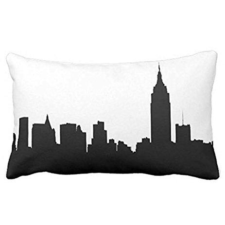 463x463 Pillowcase Standard Decorative Nyc Skyline Silhouette