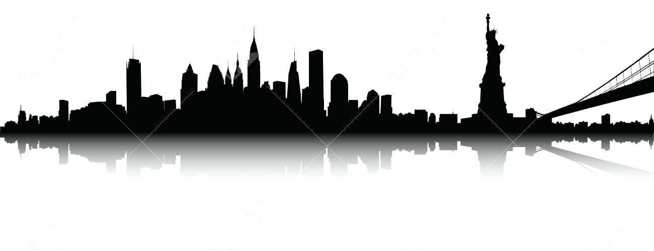 1300x500 New York Skyline Silhouette Together With New Skyline Silhouette