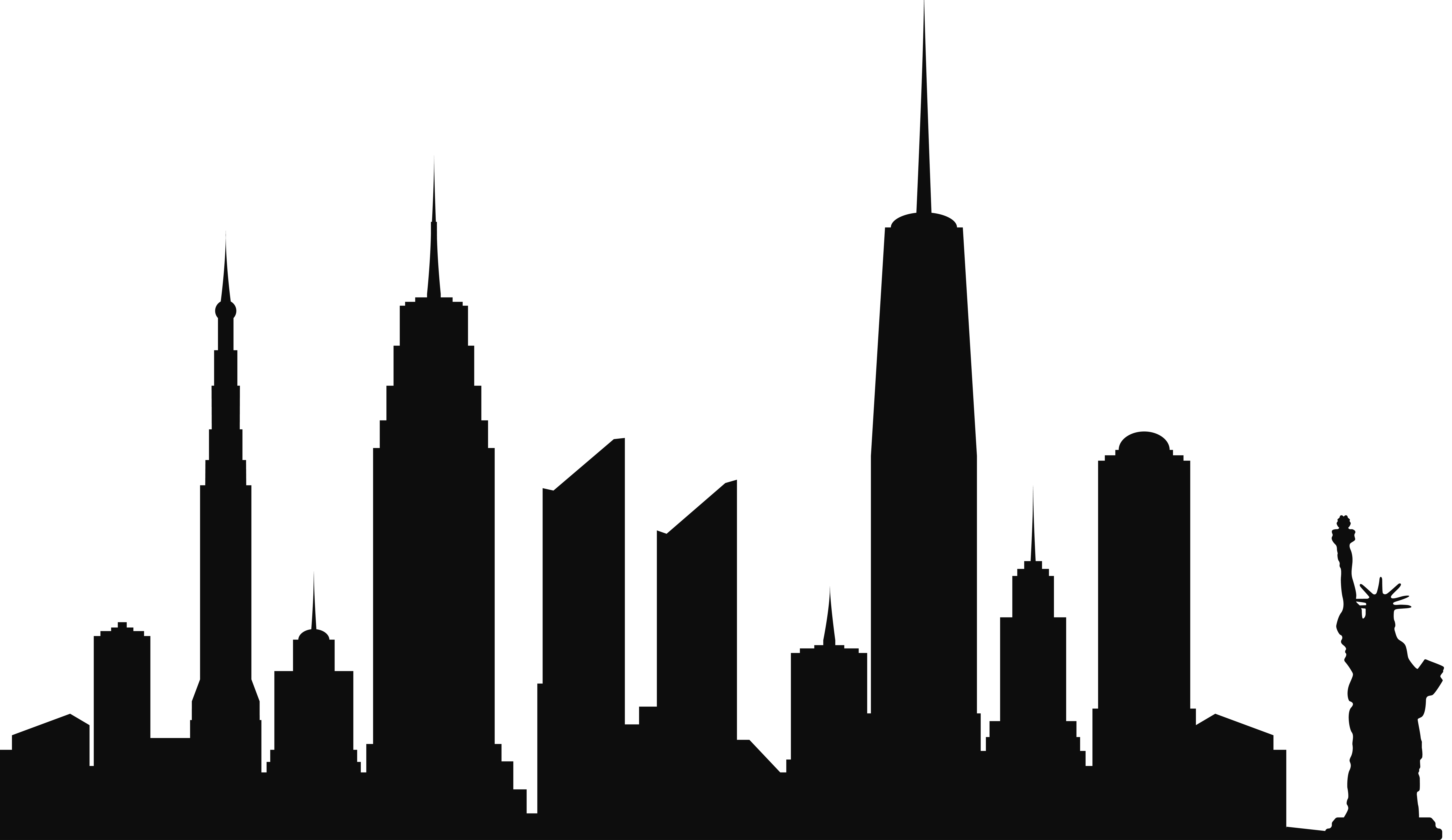 Nyc skyline silhouette at getdrawings free for personal use 8000x4631 new york city skyline silhouette png clip artu200b gallery thecheapjerseys Image collections