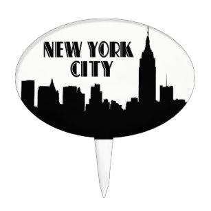 307x307 New York City Skyline With Chrysler Building Cake Toppers Zazzle
