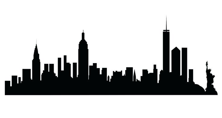 736x393 Nyc Skyline Outline Downlod Feturing Nyc City Skyline Outline