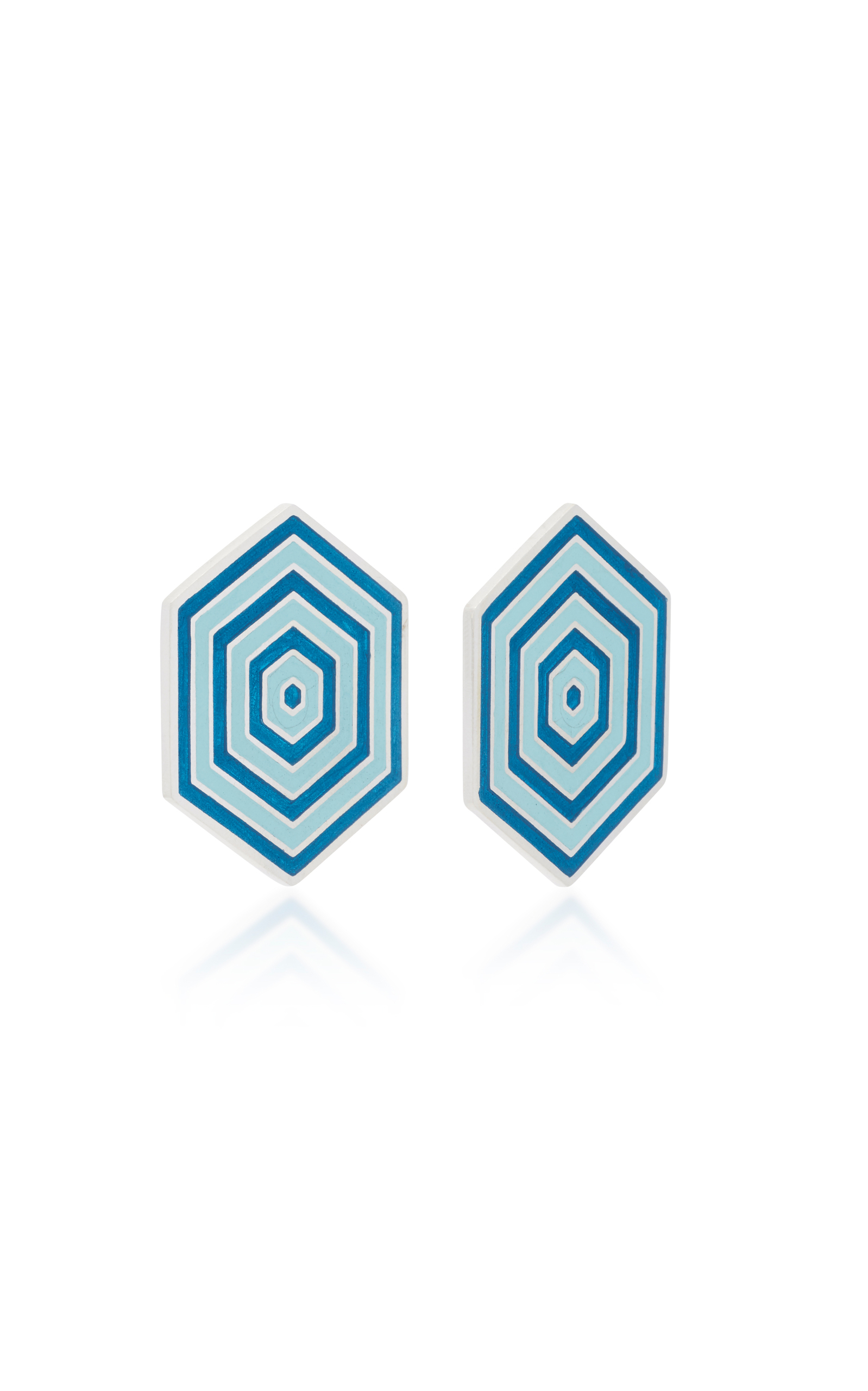 1598x2560 M'O Exclusive Enamel Hexagon Earrings By Silhouette Moda Operandi