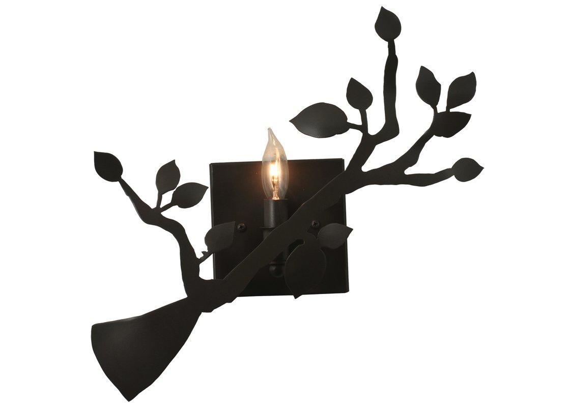 1120x800 Meyda Tiffany 1 Light Oak Branch Wall Sconce Amp Reviews Wayfair