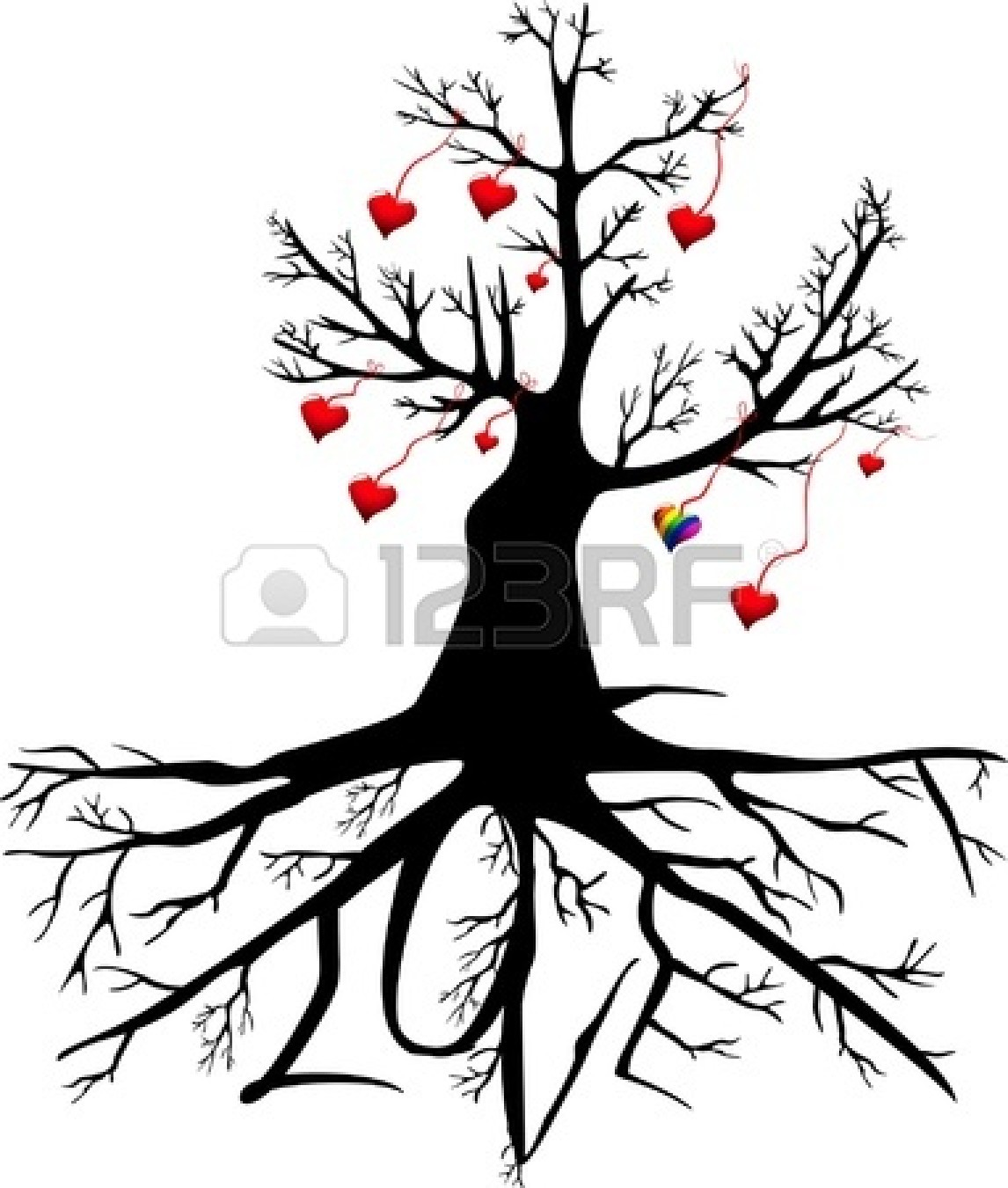1146x1350 Oak Tree Silhouette With Roots Clipart Panda