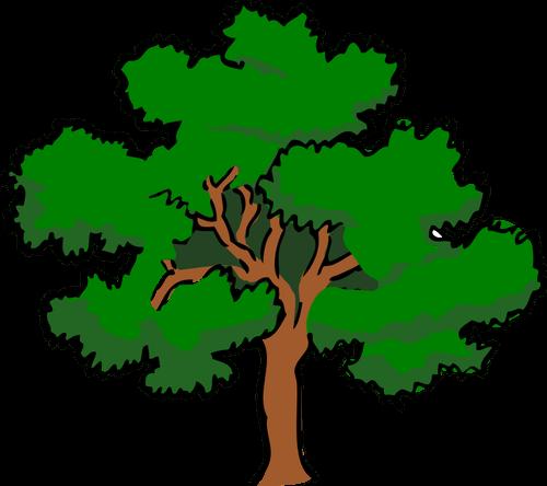 500x444 Vector Tree Cliparts