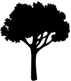 236x270 Tree Silhouette Tree002.gif Handicraft Floristic Themes