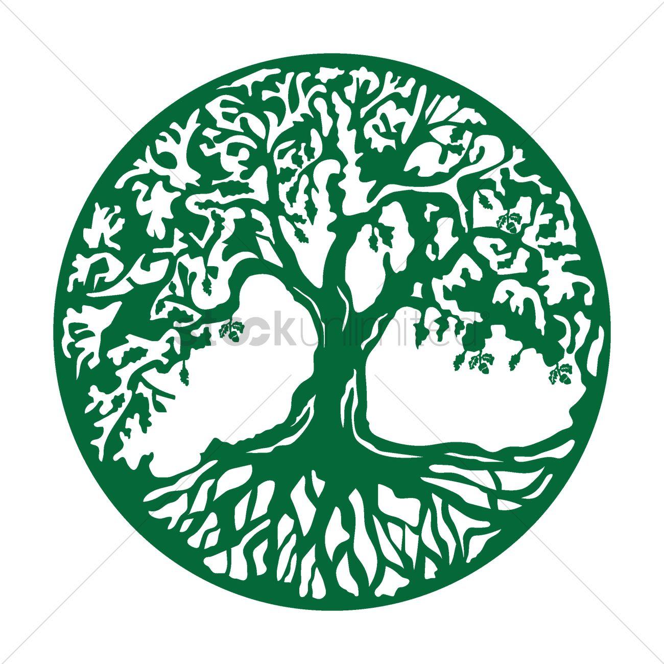 1300x1300 Oak Tree Icon Vector Image