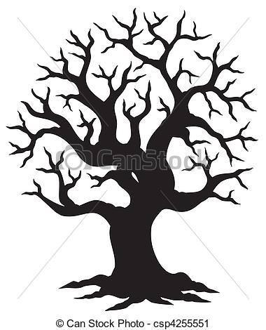 380x470 Oak Tree Silhouette Clipart