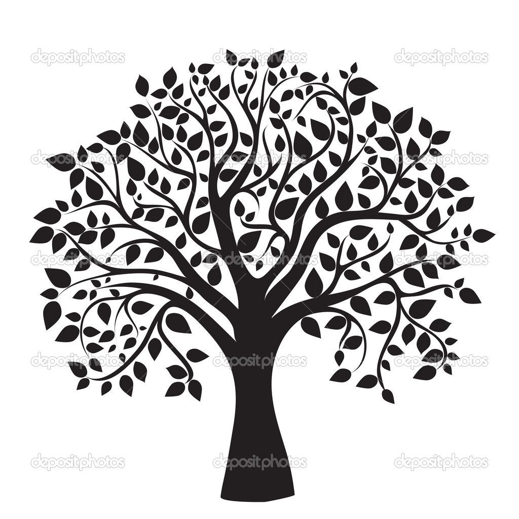 1024x1024 Oak Tree Silhouette Clipart Panda Free Clipart Images Trees