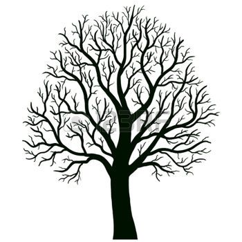 350x350 Oak Tree Silhouette Tree Isolated Vector Wire Tree Ideas