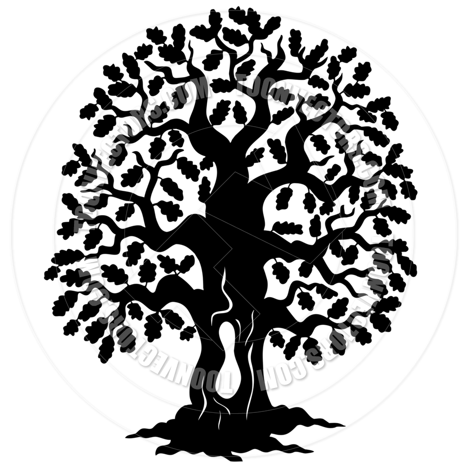 940x940 Cartoon Oak Tree Silhouette Clipart Panda