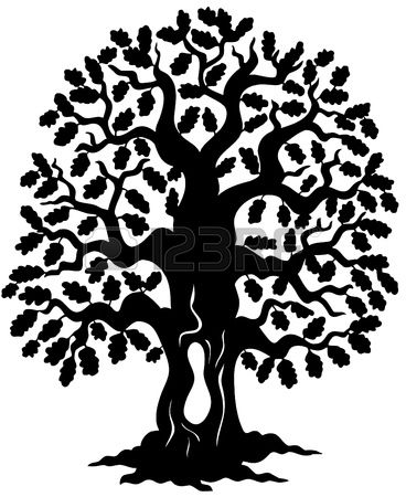 368x450 Oak Tree Silhouette Stock Vector Cad Dorm Project