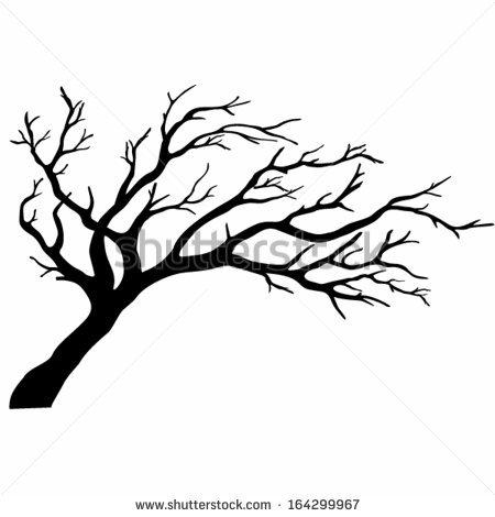 Oak Tree Silhouette Vector Free At Getdrawings Com