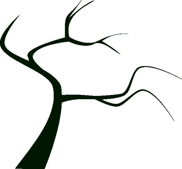 600x557 Dead Tree Silhouette Clip Art