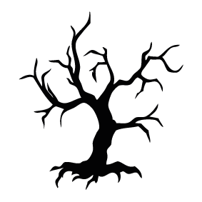 283x283 Dead Tree Clipart Silhouette