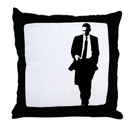 460x460 Big Obama Silhouette Throw Pillow By Bigobama