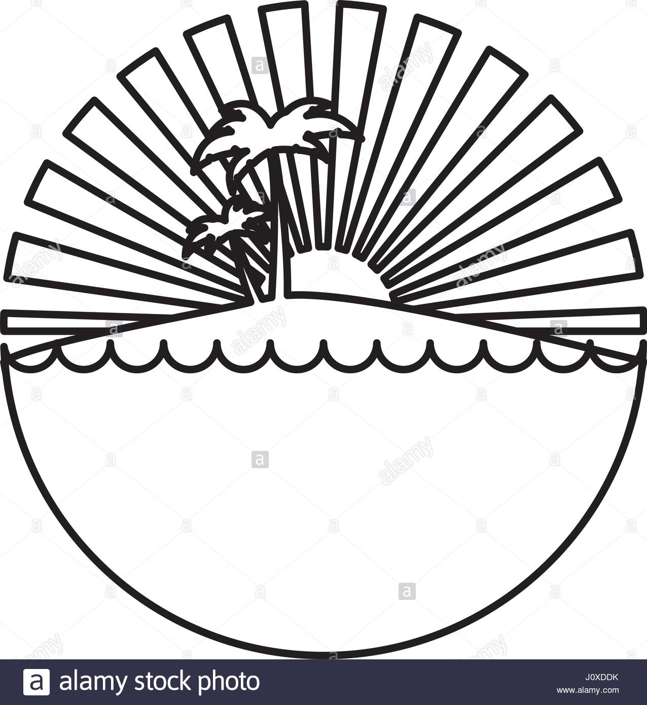 1276x1390 Silhouette Circular Background Sunset In The Ocean With Island