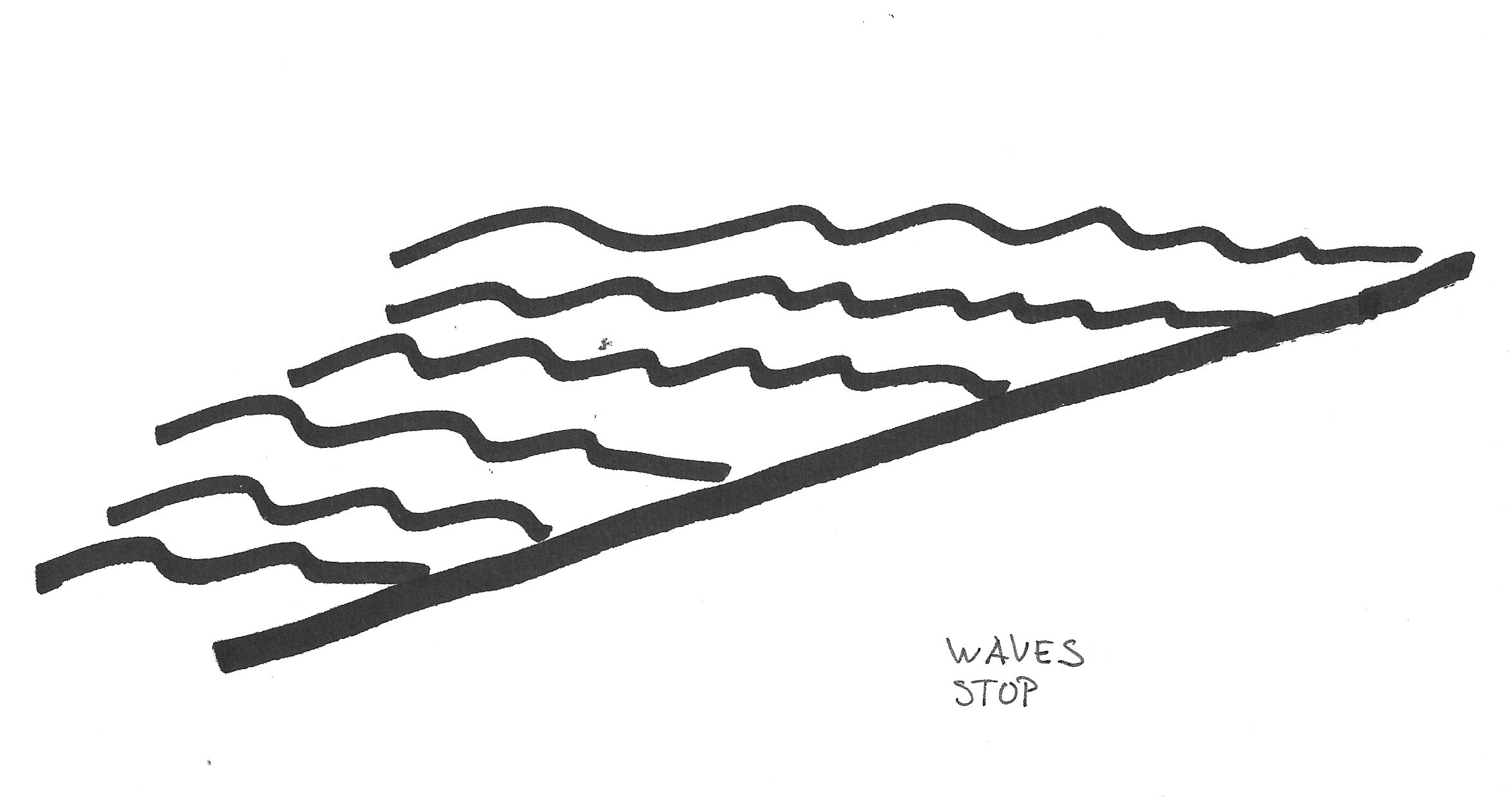 2352x1240 Ocean Waves Black And White Clipart Collection