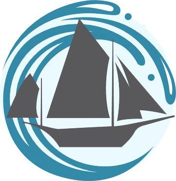 361x371 Cool Simple Nautical Ocean Waves Silhouette Cartoon