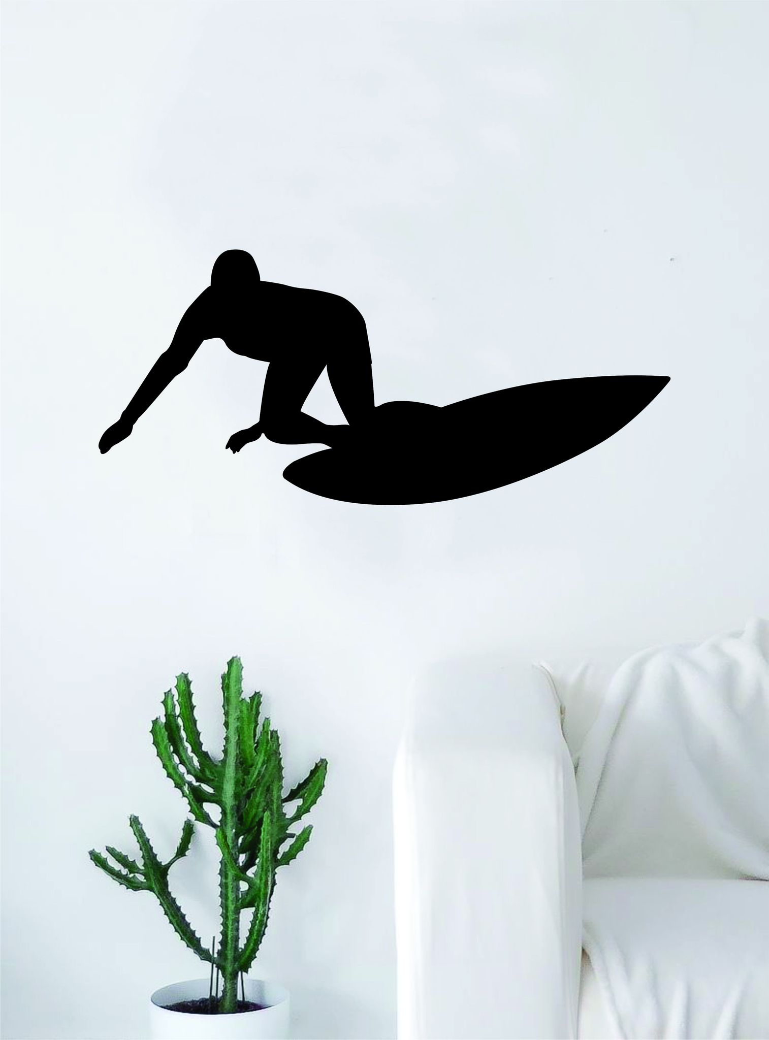 1514x2048 Surfer Silhouette Quote Wall Decal Sticker Bedroom Living Room Art
