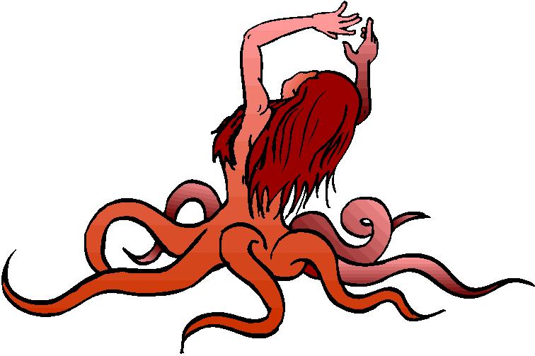 756x503 Octopus Silhouette Octopus Clip Art Images Octopus Stock Photos