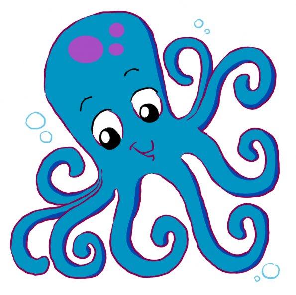 595x593 Free Cartoon Octopus Clip Art Vector Jamie Sale Image